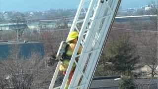 Dramatic 109-Foot Aerial Climb -- Chattanooga Fire Academy 2012 -- PT 3