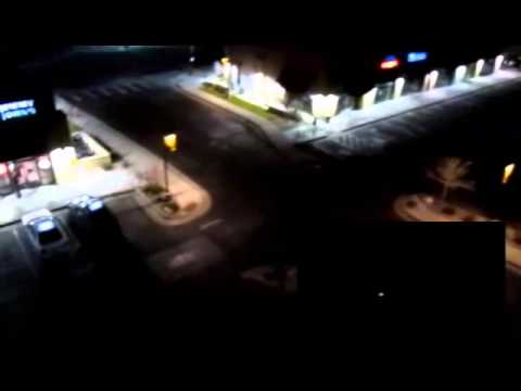 DJI Phantom Flight 13 Night in 14 mph wind Canon A2500 onboard near Hilton Inn Laramie