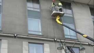 Czyszczenie elewacji hotelu