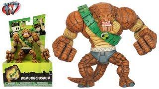 getlinkyoutube.com-Ben 10 Omniverse Humungousaur Hyper Alien Action Figure Toy Review Bandai Toys