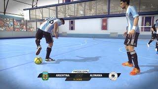 getlinkyoutube.com-Fifa Street Gameplay Xbox 360 - Argentina Vs Alemania, Muchos Goles, Duelo de Porteros