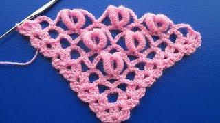 getlinkyoutube.com-punto para tejer chal a crochet con punto rococo paso a paso