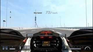 getlinkyoutube.com-GT5 X2011のダウンフォースをほぼ0にして最高速を計ってみた