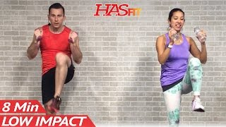 getlinkyoutube.com-8 Min Low Impact Cardio Workout for Beginners - Easy Workouts at Home HIIT Beginner Workouts Routine
