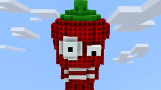 getlinkyoutube.com-Minecraft vs Zombies   MEGA JALAPENO!! (Explosion!!)   PvZ  Land