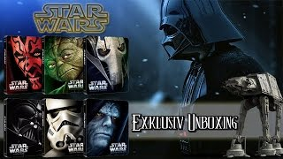 getlinkyoutube.com-Star Wars: Episode 1- 6 - Limited Steelbook Blu-ray unboxing