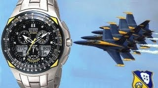 getlinkyoutube.com-Resenha do Relógio Citizen SkyHawk Blue Angels JR3090