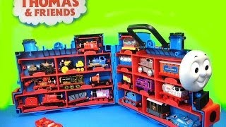 getlinkyoutube.com-16 Thomas and Friends Diecast Mattel Trains, Disney Cars Lightning McQueen like Kinder Surprise Eggs