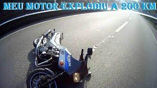 getlinkyoutube.com-O DIA QUE EXPLODI O MOTOR A 200 KM E CAI COM MINHA CBX 750 (7 GALO).