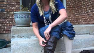getlinkyoutube.com-Fashion Hack: How to wear tall boots with jeans