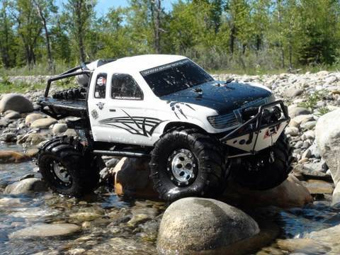 RC ADVENTURES - SCALE RC TRUCKS # 18  - MONSTER  AXIAL SCX10 TRUCK TRAILS - WATER FUN
