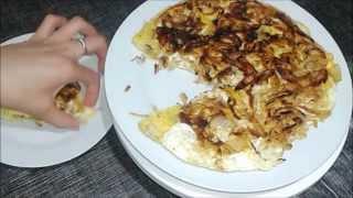 getlinkyoutube.com-طرطية بالبصل أكلة سريعة للعشاء  شهيوات هندوشة /  Tortilla aux oignon recette rapide pour le diner