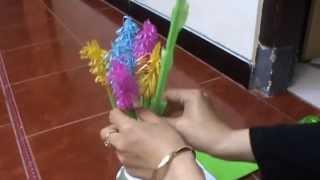 Cara Membuat Bunga Lavender dari Sedotan