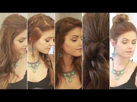 5 ideias de penteados fáceis para a escola