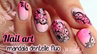 getlinkyoutube.com-NAIL ART mandala dentelle fluo