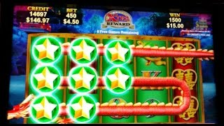 getlinkyoutube.com-Dragon's Law ( Dragon's Victory) Slot Machine-MAX BET BONUSES