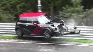 getlinkyoutube.com-Hard Mini Cooper Crash Unfall Nordschleife Nürburgring Touristenfahrt 07.09.2014