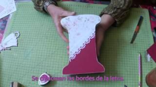 getlinkyoutube.com-Como decorar letras de madera