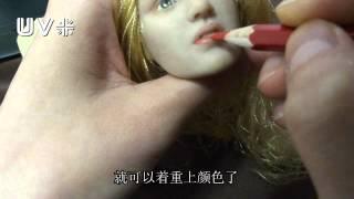 getlinkyoutube.com-【uv米手工人偶】怎么样给kate winslet娃娃化妆