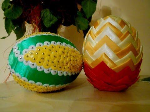 Jak zrobić styropianowe jajko ze wstążki