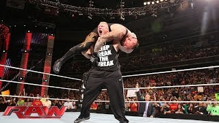 getlinkyoutube.com-Brock Lesnar F-5s The Undertaker: Raw, March 31, 2014