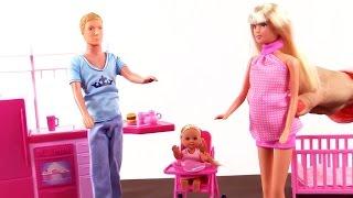 getlinkyoutube.com-Видео для детей! Кукла Штеффи: семья - папа, мама и дочка! Развивающие игрушки - куклы для девочек!