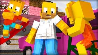 5 COISAS QUE OS SIMPSONS FARIAM NO MINECRAFT !! (Minecraft Machinima)