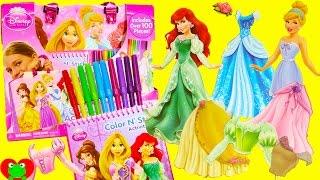 getlinkyoutube.com-Disney Princess Fashion Activity Tote and Shopkins Season 7 Surprises
