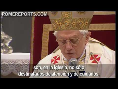 El Papa afirma que los enfermos son testimonio del amor y la esperanza
