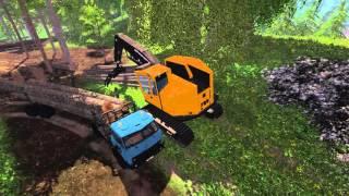 getlinkyoutube.com-FS 15 MAZ 509 Forestry Set