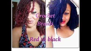 getlinkyoutube.com-Kinky crochet braids | Red to Black