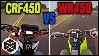 getlinkyoutube.com-CRF450 vs WR450!! (Supermoto)