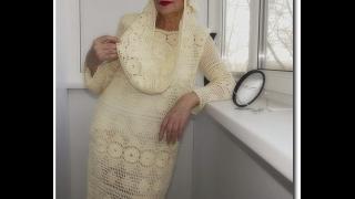 getlinkyoutube.com-Креативные вязаные крючком платья. Crochet dresses for women