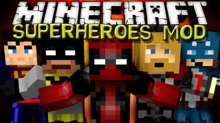 getlinkyoutube.com-Minecraft Mods - SUPERHEROES UNLIMITED MOD!!