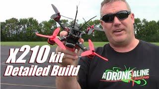 getlinkyoutube.com-X210 2600kv 30amp Racing Drone Kit Detailed Build Video