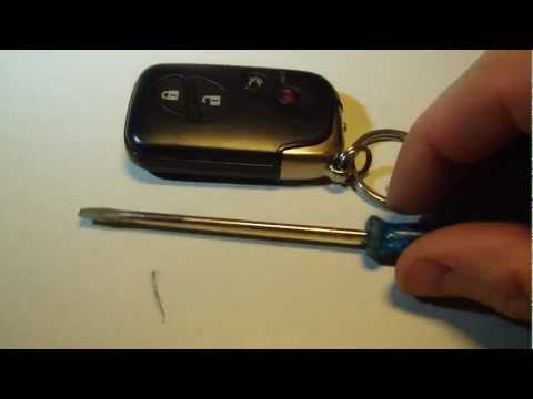 How to change smart key battery Lexus IS, LS, GS, ES, HS Years 2006-2013 ( HD ) FCC ID: HYQ14AAB