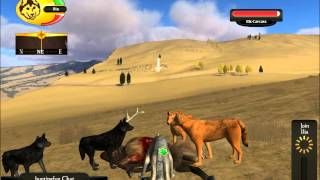 getlinkyoutube.com-WolfQuest Multiplayer - Bull hunting