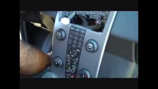 How to Volvo S40 Car Stereo Removal 2004 - 2009 repalce repair