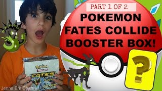getlinkyoutube.com-Pokemon XY Fates Collide Booster Box Opening - Part 1 of 2 - AWESOME PULLS! Jenna Em Channel