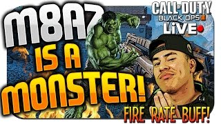 "Insane ""M8A7"" Assault Rifle FIRE RATE BUFF! Best AR in BLACK OPS 3!? ★ (BO3: M8A7 Best Class Setup!)"