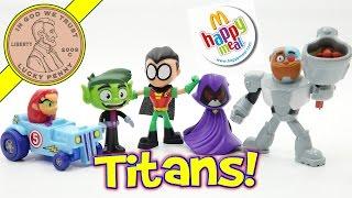 getlinkyoutube.com-Teen Titans Go McDonald's 2017 Happy Meal Fast Food Kids Toys