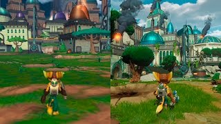 getlinkyoutube.com-Ratchet & Clank | Original VS Remake Comparison | Comparativa PS2/PS4