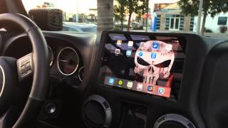 getlinkyoutube.com-Jeep Punisher Edition Ep.48- Custom Ipad Mini Slider Kit Installed in Dash Sony MEX-GS610BT