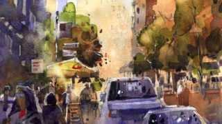 getlinkyoutube.com-Iain Stewart Watercolor Artist Demo