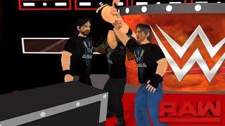 The Shield attacks Braun Strowman on RAW- WR3D