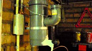 getlinkyoutube.com-Rocket stove heater - drip feeding waste oil.