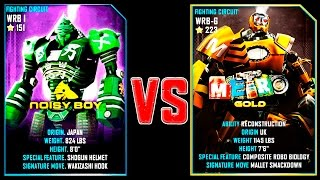 Real Steel WRB Noisy Boy VS Metro Gold NEW Robot updating (Живая Сталь)