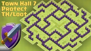 getlinkyoutube.com-Clash of clans - Town Hall 7 Hybrid Base | TH7 Protect Town Hall and Resources (The Slit 2)