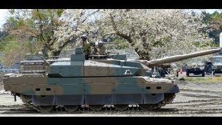getlinkyoutube.com-2013 駒門駐屯地 10式戦車パンツァー・フォー! ヌルヌル動いてバンバン空包撃ちまくり