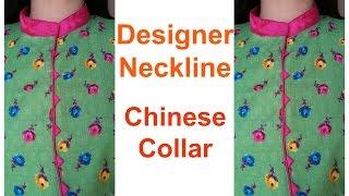 getlinkyoutube.com-Designer Neckline | Chinese Collar